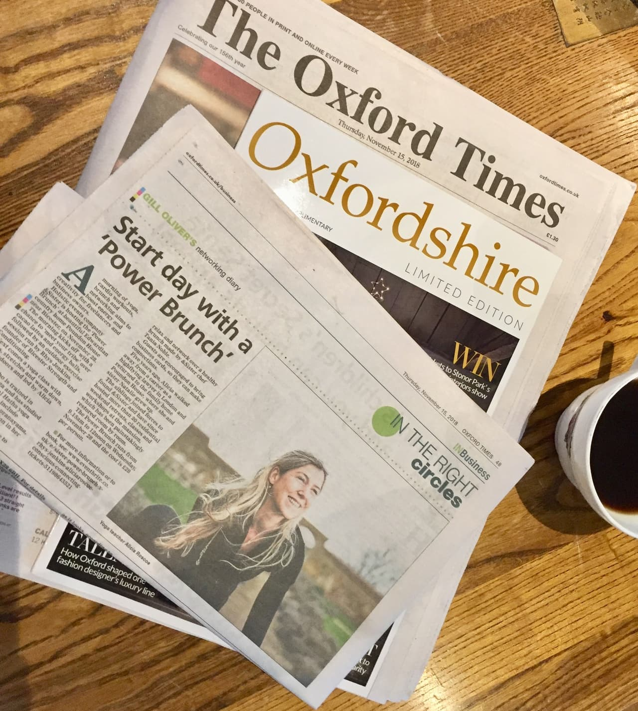 Alicia is interviewed by The Oxford Times Limited Edition